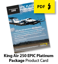 King Air 250 EPIC Platinum Card