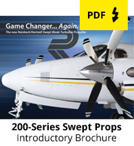 200-Series Swept Blade Turbofan Propellers Brochure