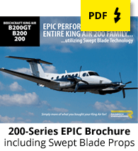 King Air 200-Series EPIC Performance Package Brochure