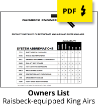 Raisbeck King Air Owners List