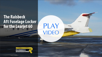 Raisbeck Aft Fuselage Locker installed on a Lear 60
