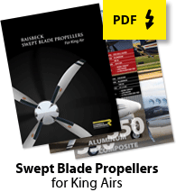 Swept Prop Trifold Brochure
